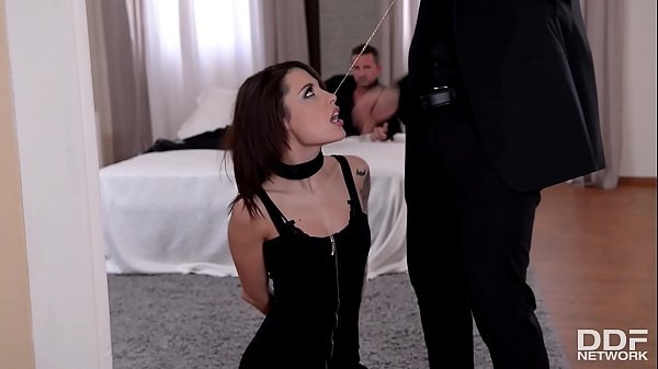 Two gentlemen spank, fist and double penetrate BDSM slut Nikita Bellucci